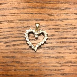 Jewelry - 10k Yellow Gold and Diamond Pendant